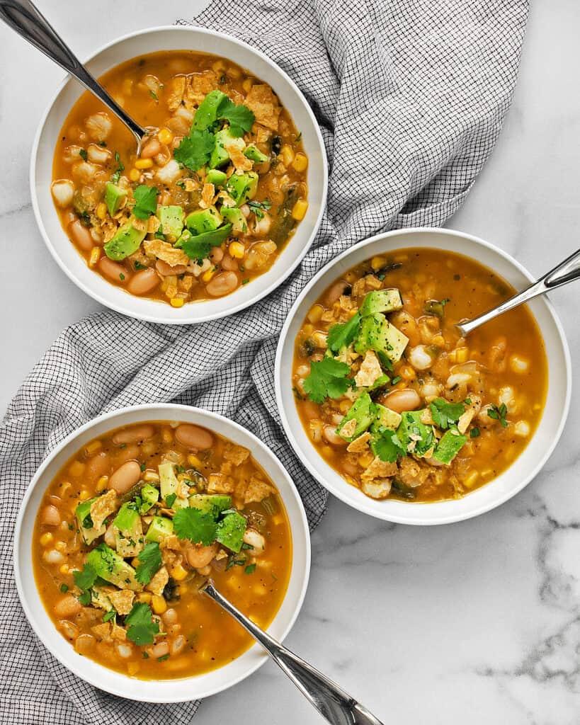 Vegan Poblano White Bean Chili