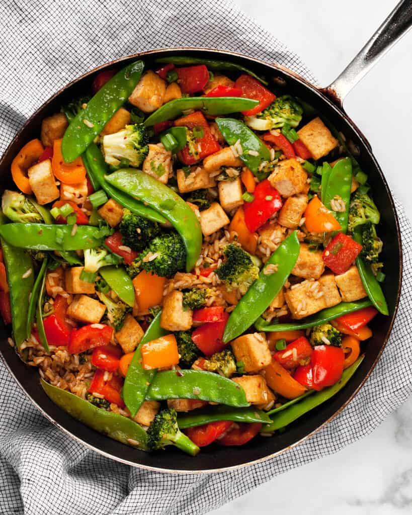 Ginger Garlic Veggie Tofu Stir-Fry