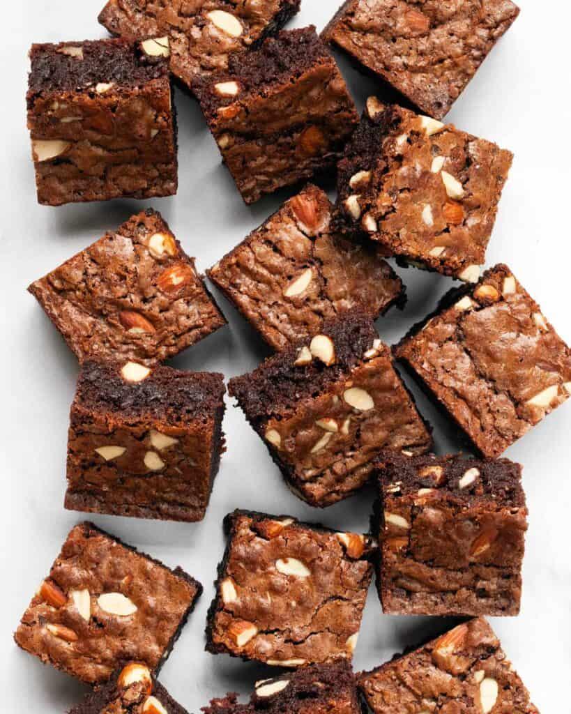 Milk Chocolate Almond Brownies