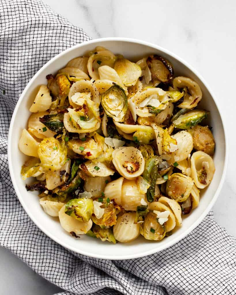 Roasted Brussels Sprout Pasta