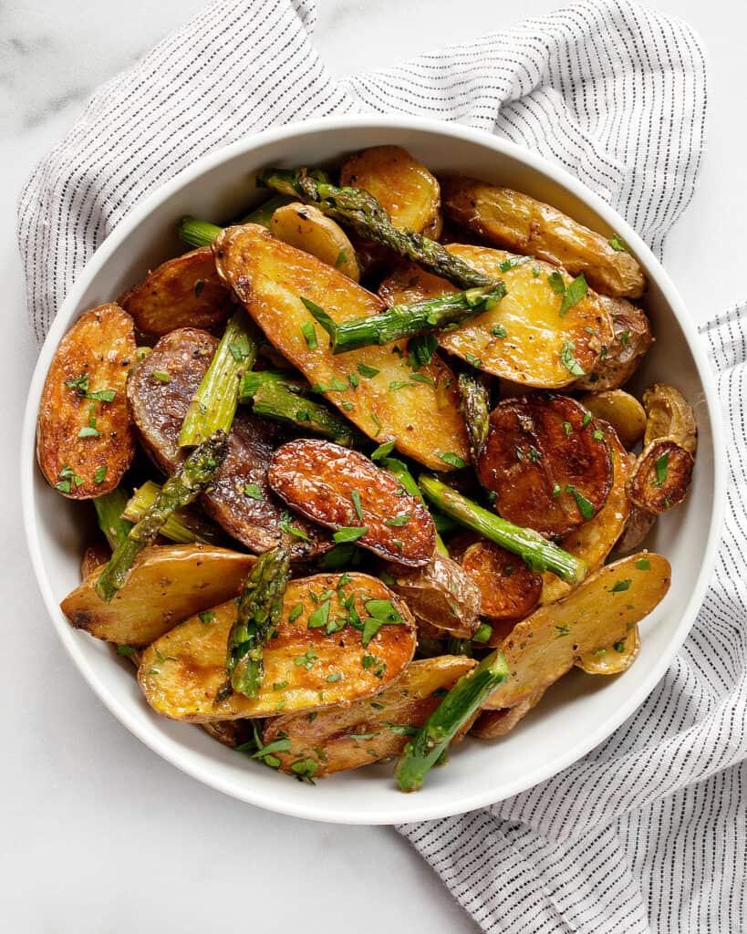 Roasted Asparagus Potato Salad
