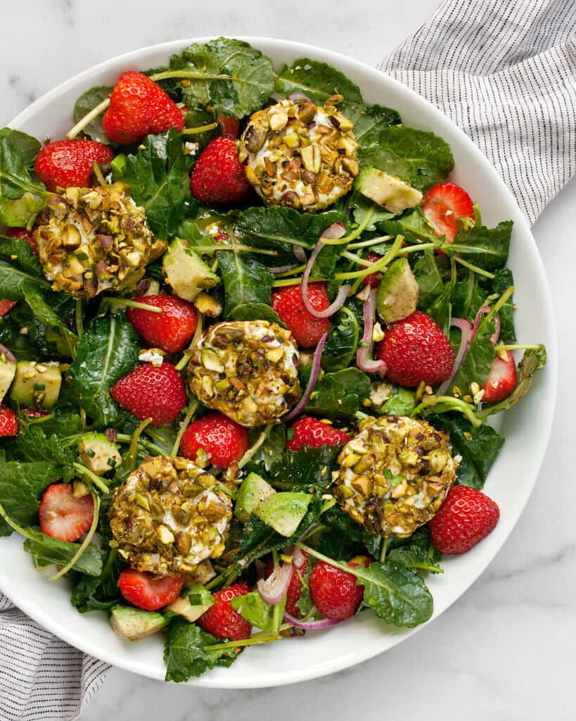 Pistachio Goat Cheese Strawberry Salad