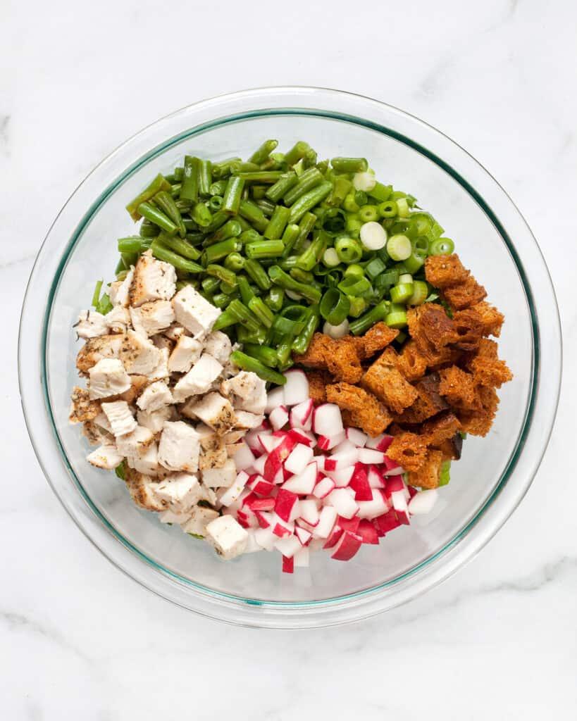 Roast Chicken Chopped Salad Ingredients