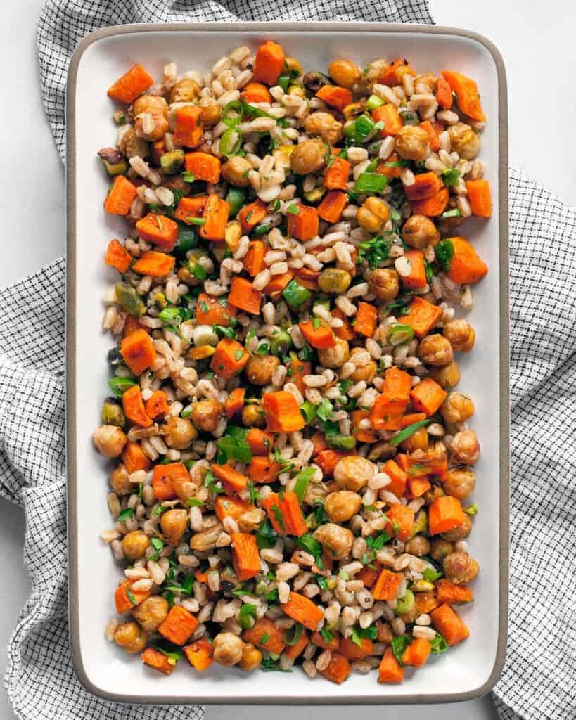 Roasted Carrot Chickpea Farro
