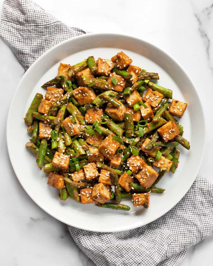 Sesame Tofu Asparagus