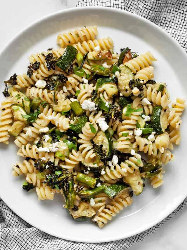 Broccolini Zucchini Pasta Salad