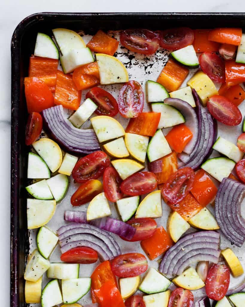 Mediterranean Vegetables on a Sheet Pan