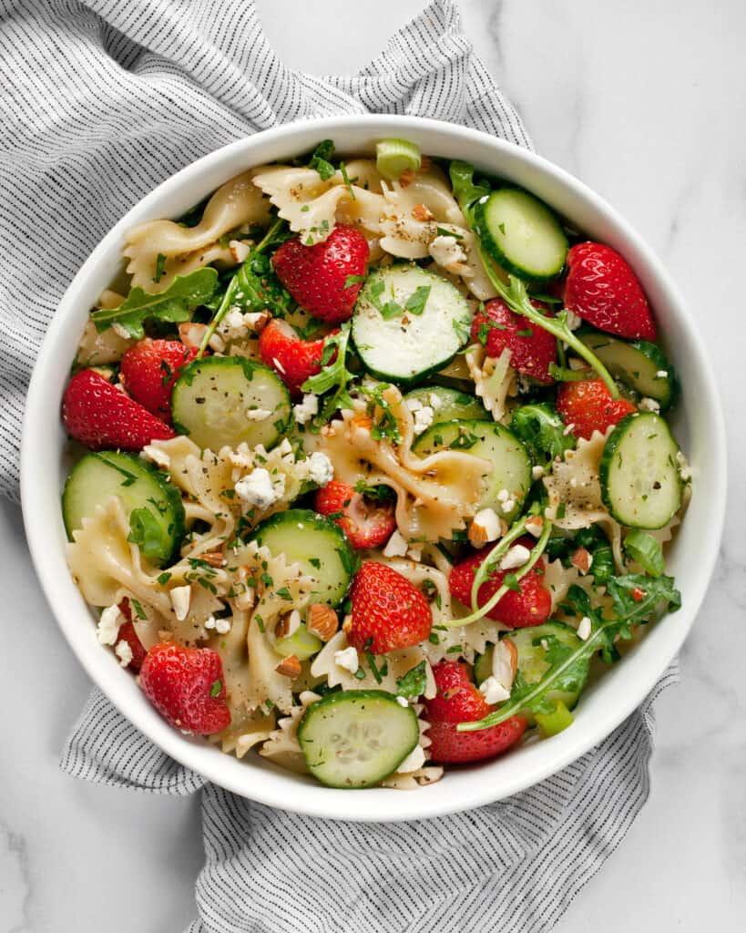 Strawberry Cucumber Pasta Salad