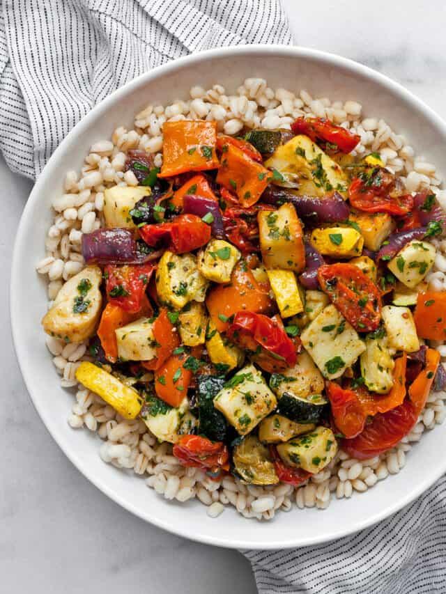 Mediterranean Vegetables and Halloumi
