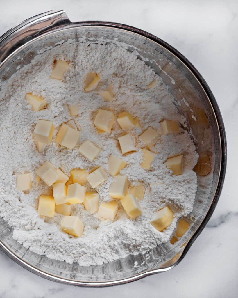 Cutting butter into flour