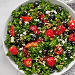 Mixed Berry Kale Salad