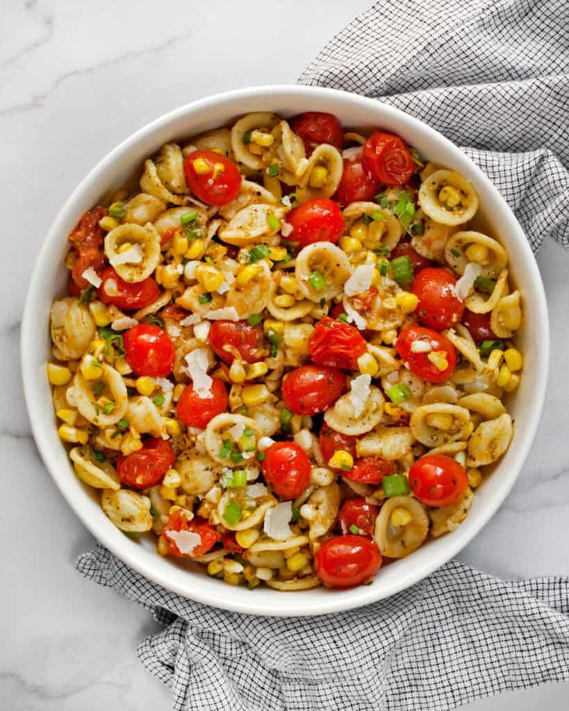 Tomato Corn Orecchiette