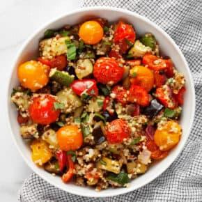 Roasted Ratatouille Quinoa