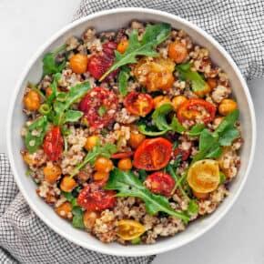 Roasted Tomato Chickpea Quinoa Salad