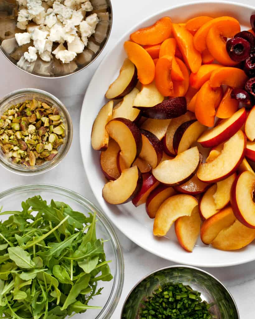 Stone Fruit Salad Ingredients