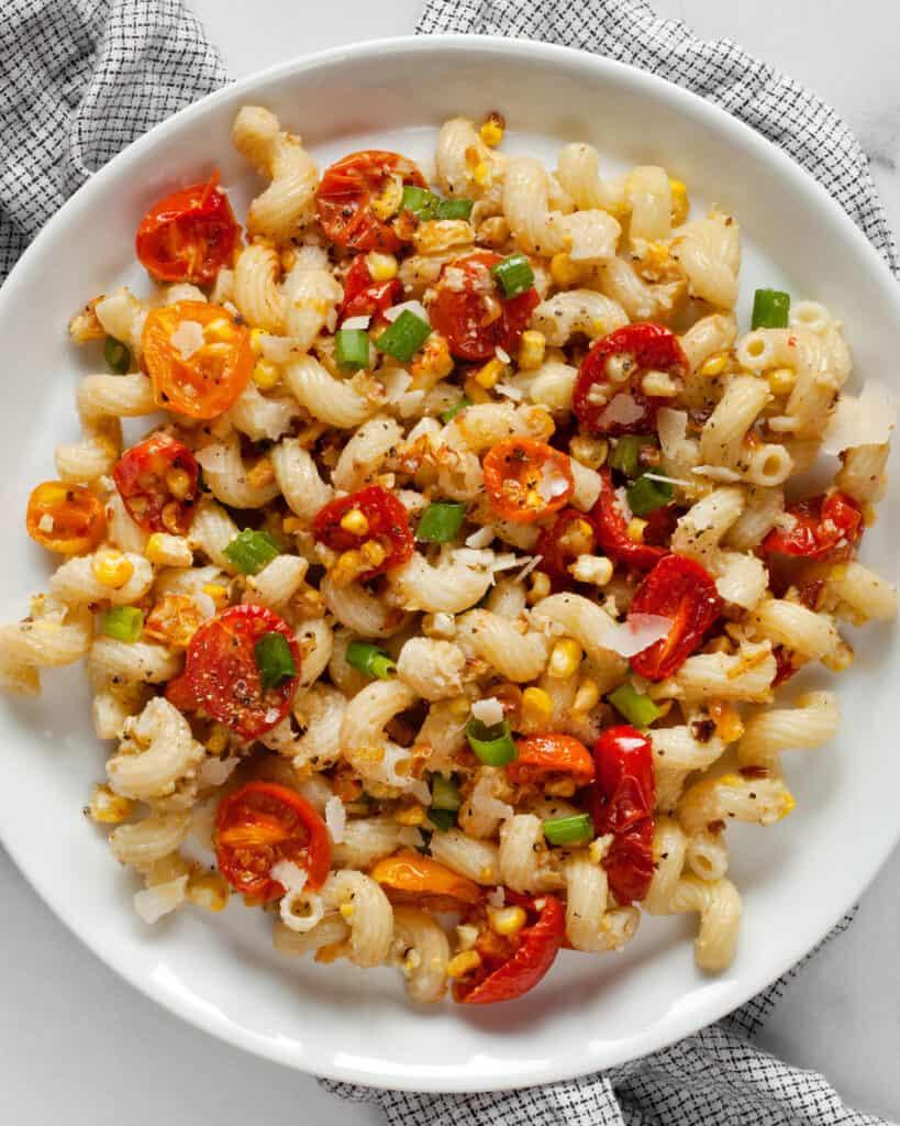 Sweet Corn Pesto Pasta