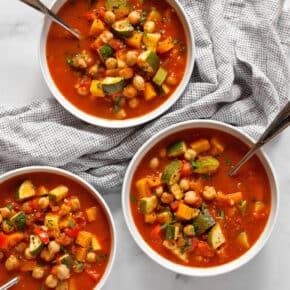 Chickpea Harissa Vegetable Soup