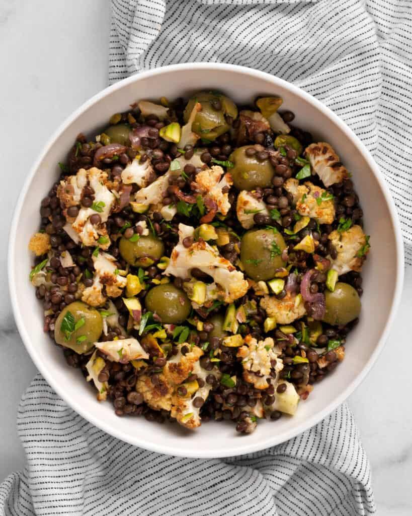 Roasted Cauliflower Lentil Salad